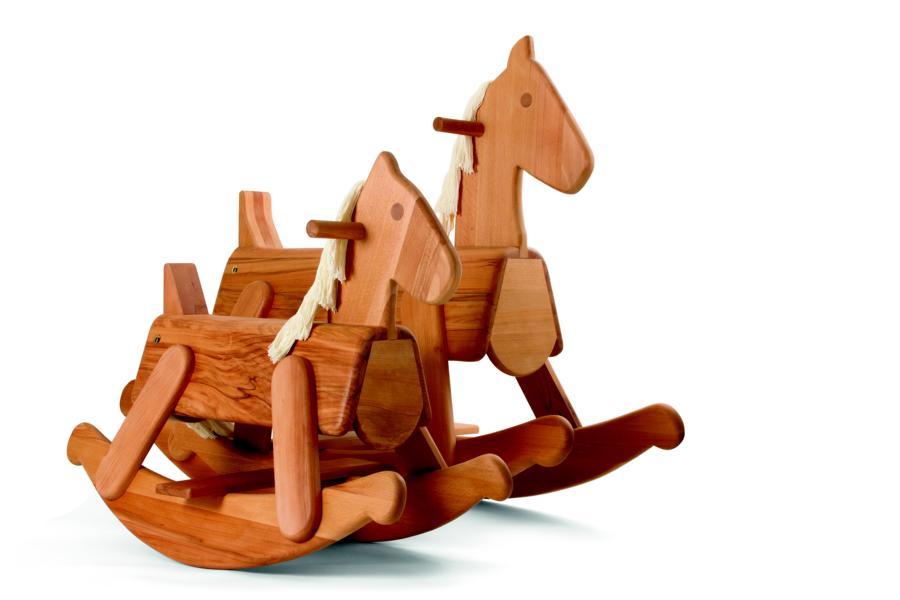 Schaukelpferd natur klein | Spielwaren ab 1 Jahr | Spielzeug